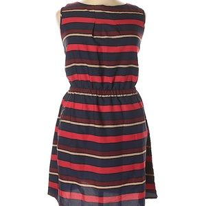 Fall Colors Striped Dress